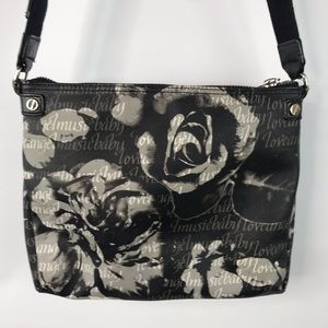 L.A.M.B Rose Print Love Angel Music Baby Crossbody